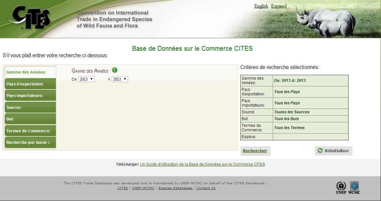 CITES Trade Database